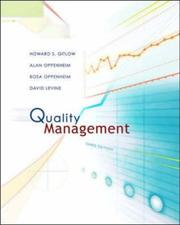 Cover of: Quality Management with Student CD (Mcgraw-Hill/Irwin Series Operations and Decision Sciences)