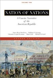 Cover of: Nation of Nations, A Concise Narrative of the American Republic, Vol II