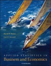 Cover of: Applied Statistics in Business and Economics with St CDRom