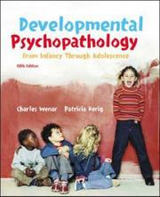 Cover of: Developmental Psychopathology from Infancy through Adolescence