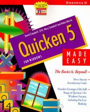 Cover of: Quicken 5 for Windows Made Easy (Made Easy Series)