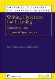 Cover of: Writing Hypertext and Learning (Advances in Learning and Instruction)