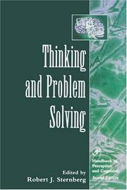 Cover of: Thinking and Problem Solving (Handbook of Perception and Cognition) (Handbook Of Perception And Cognition)