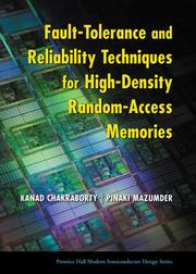 Cover of: Fault Tolerance and Reliability Techniques for High-Density Random-Access Memories