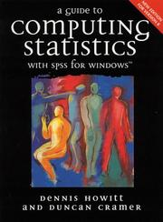 Cover of: A Guide to Computing with SPSS for Windows