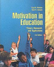 Cover of: Motivation in Education