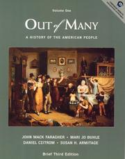 Cover of: Out of Many, Volume I (3rd Edition)