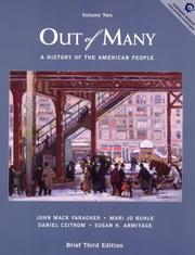 Cover of: Out of Many, Volume II (3rd Edition)