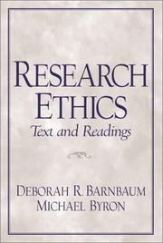 Cover of: Research Ethics Text and Readings