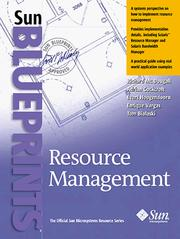 Cover of: Resource Management (Sun Bluprints)