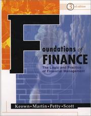 Cover of: Foundations of Finance (3rd Edition)