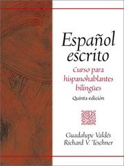 Cover of: Español escrito
