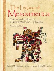 Cover of: The Legacy of Mesoamerica