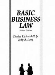 Cover of: Basic Business Law (2nd Edition) (Basic Business Law)