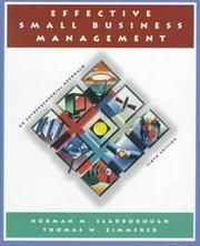 Cover of: Effective Small Business Management
