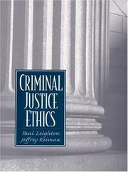 Cover of: Criminal Justice Ethics