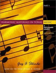 Cover of: Harmonic Materials in Tonal Music