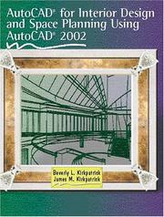 Cover of: AutoCAD for Interior Design and Space Planning Using AutoCAD 2002