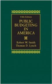 Cover of: Public Budgeting in America (5th Edition)