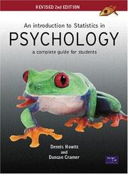 Cover of: An Introduction to Statistics in Psychology