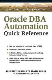 Cover of: Oracle DBA Scripting Quick Reference
