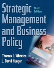 Cover of: Strategic Management and Business Policy, Ninth Edition