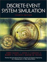 Cover of: Discrete-Event System Simulation, Fourth Edition