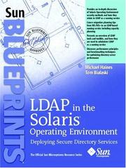 Cover of: LDAP in the Solaris Operating Environment
