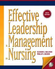 Cover of: Effective Leadership and Management in Nursing (6th Edition)