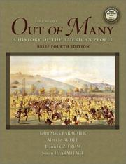 Cover of: Out of Many, Vol. 1, Brief Fourth Edition