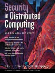 Cover of: Security In Distributed Computing