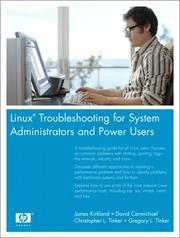 Cover of: Linux(R) Troubleshooting for System Administrators and Power Users (HP Professional Series)