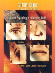 Cover of: Abnormal Psychology in a Changing World