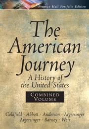 Cover of: American Journey Portfolio, Combined