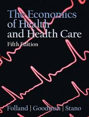 Cover of: Economics of Health and Health Care (5th Edition)