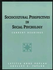 Cover of: Sociocultural Perspectives in Social Psychology