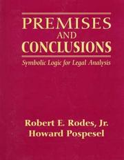 Cover of: Premises and Conclusions