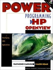 Cover of: Power Programming in HP OpenView