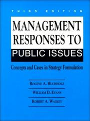 Cover of: Management Responses to Public Issues