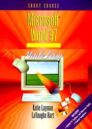 Cover of: Microsoft Word 97 Made Easy