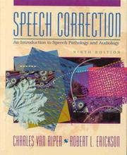 Cover of: Speech Correction