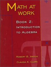 Cover of: Math at Work