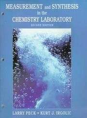 Cover of: Measurement and Synthesis in the Chemistry Laboratory (2nd Edition)