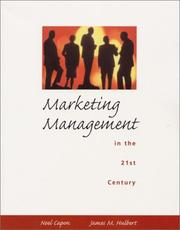 Cover of: Marketing Management in the 21st Century