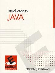 Cover of: Introduction to Java