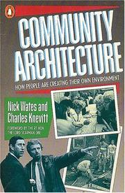 Cover of: Community Architecture