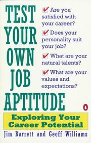 Cover of: Test Your Own Job Aptitude
