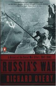 Cover of: Russia's War: A History of the Soviet Effort: 1941-1945