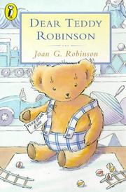 Cover of: Dear Teddy Robinson