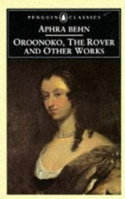 Cover of: Oroonoko, The Rover, and Other Works (Penguin Classics)